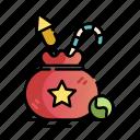 christmas, christmas gift, gift, gift bag, gifts, present, xmas icon