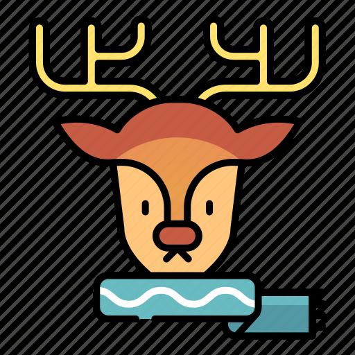 animal, christmas, deer, reindeer, winter, xmas icon