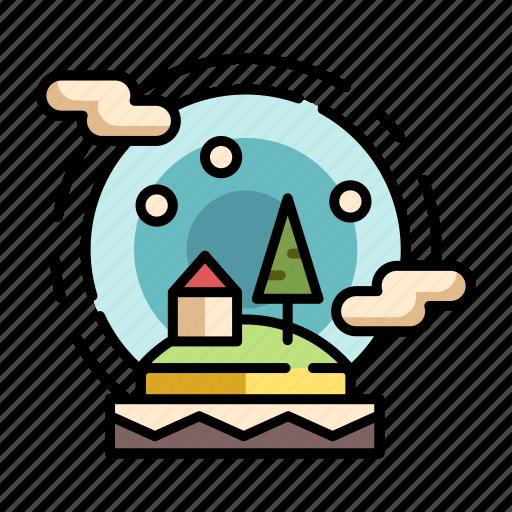 christmas, collection, decoration, snow, snow ball, snow globe, xmas icon
