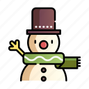 character, christmas, decoration, snow, snowman, xmas icon