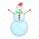 cartoon, christmas, snow, snowman, style, winter, xmas icon