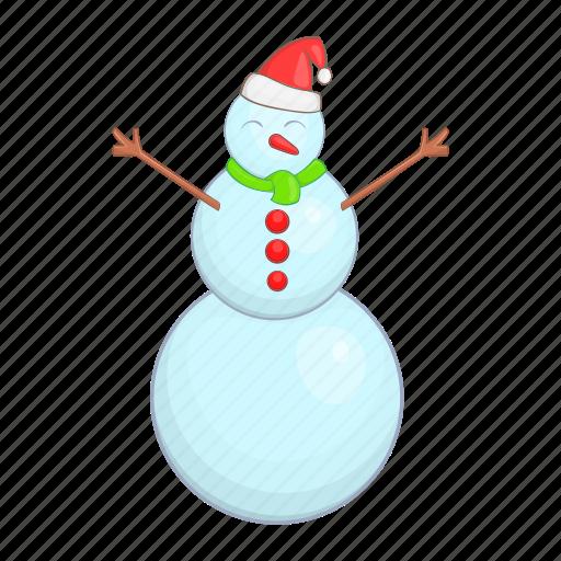 cartoon, christmas, snow, snowman, style, winter, xmas icon