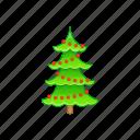 cartoon, christmas, holiday, style, tree, winter, xmas