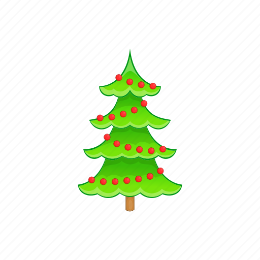cartoon, christmas, holiday, style, tree, winter, xmas icon