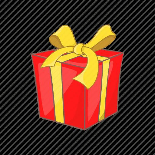 bow, box, cartoon, gift, present, ribbon, style icon