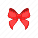 bow, cartoon, celebration, decoration, gift, red, style icon