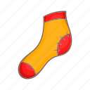 cartoon, christmas, decoration, sock, style, wooden, xmas icon