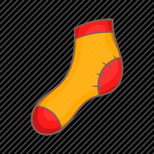 cartoon, christmas, decoration, sock, style, wooden, xmas icon