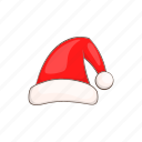 cartoon, claus, hat, red, santa, season, style icon