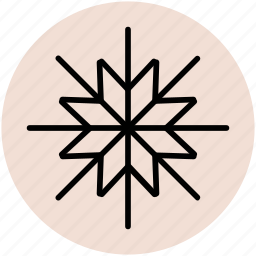 christmas snowflake, crystal flake, snow falling, snowflake, snowflake ornament, snowing, winter decoration icon