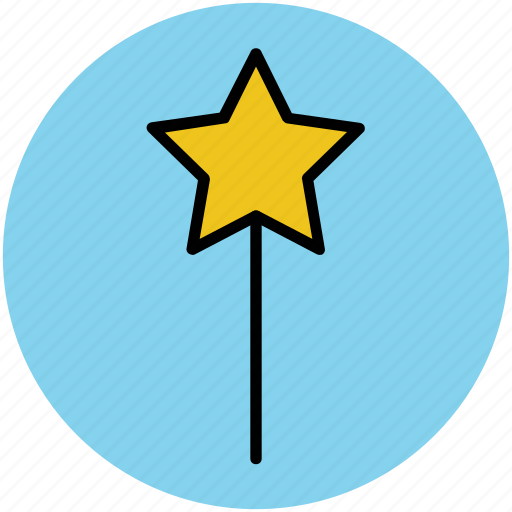 fairy wand, magic stick, magic wand, magical wand, wizard wand icon