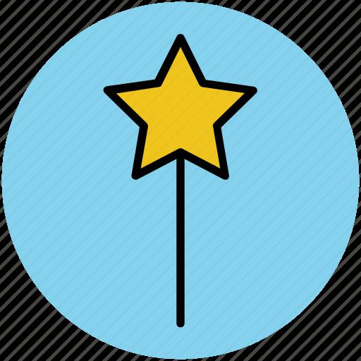fairy wand, magic stick, magic wand, magical wand, wizard wand icon