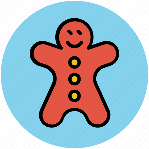 bakery food, christmas cookie, ginger man, gingerbread, gingerbread man, sweet icon