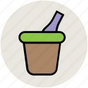 bucket, champagne bucket, drink, wine bottle, wine bucket icon