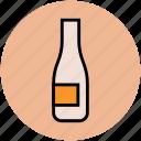 alcohol, bottle, champagne, champagne bottle, drink bottle, wine, wine bottle icon
