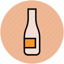 alcohol, bottle, champagne, champagne bottle, drink bottle, wine, wine bottle icon