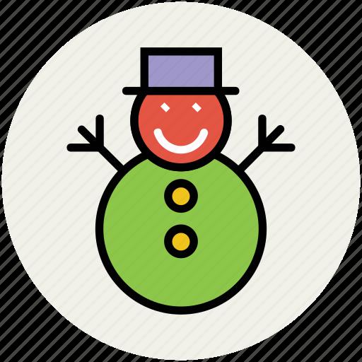 christmas, christmas snowman, snowman, snowperson, winter, xmas icon