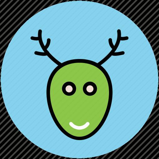 animal head, christmas reindeer, deer head, elk, moose head, reindeer head, rudolf icon
