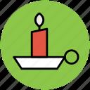 burning candle, candle, candle holder, candlestick, christmas candle icon