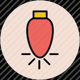 bulb, bulb on, decoration light, electric light, light, lightbulb icon