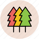 christmas trees, fir trees, forest, nature, pine trees, tree icon