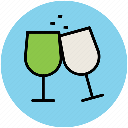 celebration, champagne, cheers, party, toasting, wine glass icon