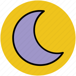 crescent, moon, nature, night, sky, waning moon, weather icon
