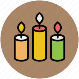 advent candles, candles, candles burning, christmas candles, decoration icon