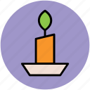burning candle, candle, candle holder, candlestick, christmas candle icon