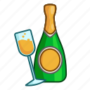 champagne, christmas, drink, new year