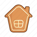 christmas, gingerbread, house, new year