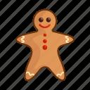christmas, gingerbread, man, new year