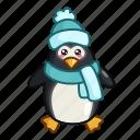 bird, christmas, new year, penguin