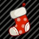 christmas, sock, stocking, xmas icon