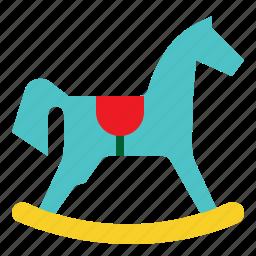 baby, child, game, horse, rocking, toy icon