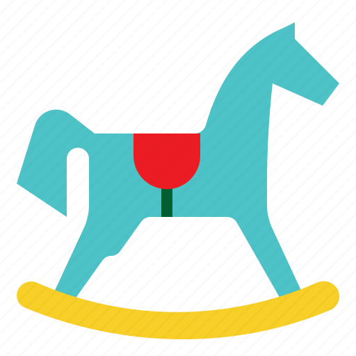Horse, toy, game, child, baby, rocking icon