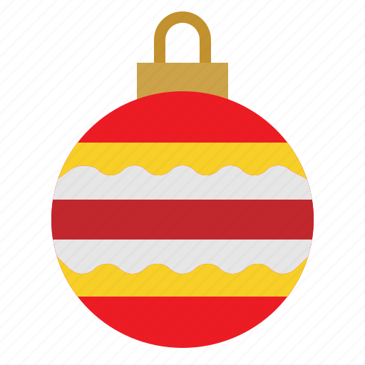 Ball, bauble, decorations, christmas icon