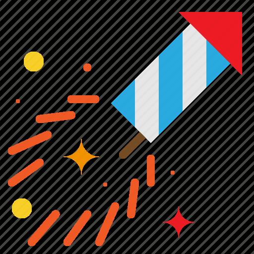 carnival, cracker, explosion, firework, holiday, rocket icon