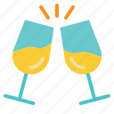 celebrate, celebration, champagne, drink, toast icon