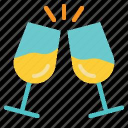 celebrate, celebration, champagne, drink, toast icon