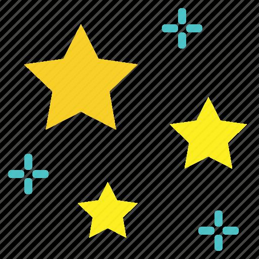 night, sky, star, stars icon