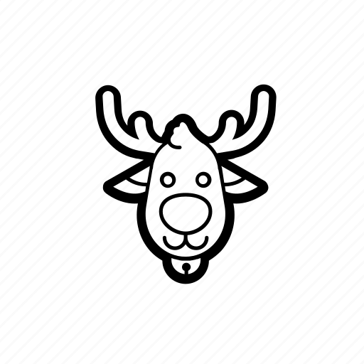 christmas, deer, holidays, reindeer, santa, winter, xmas icon
