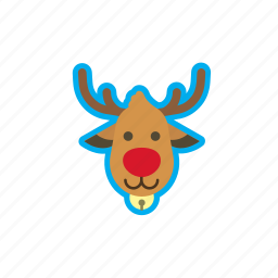 christmas, deer, holidays, reindeer, winter, xmas icon