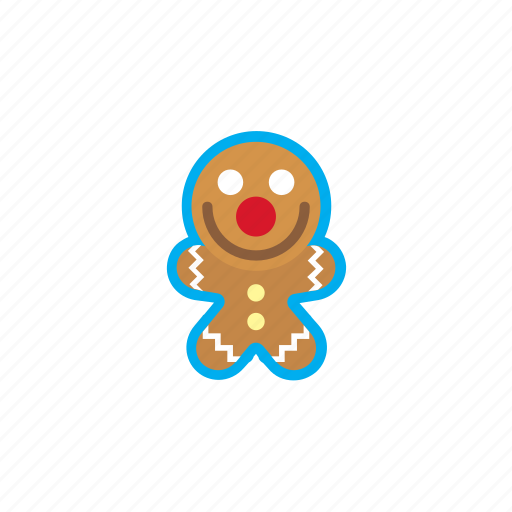 christmas, cookie man, gift, gingerbread, holidays, santa, xmas icon