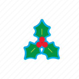 bell, berry, christmas, decoration, holidays, leaf, mistletoe icon