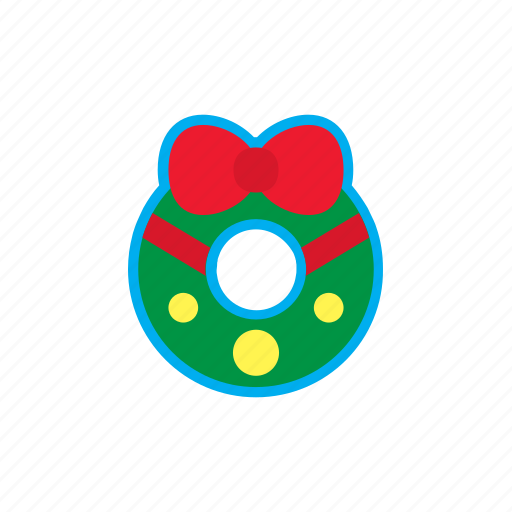 bell, christmas, decoration, gift, holidays, wreath icon