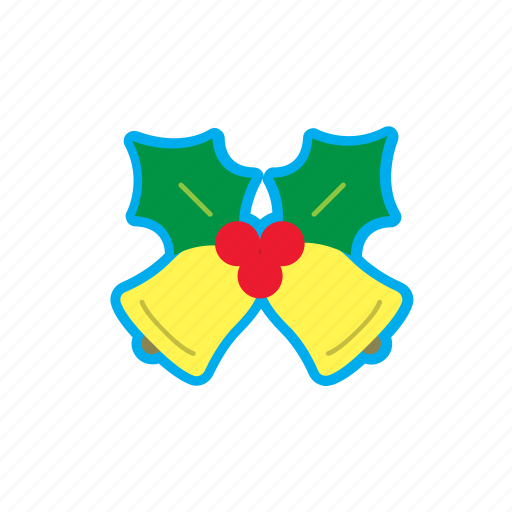 bell, berry, christmas, decoration, gift, holidays, leaf icon