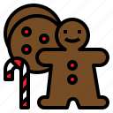 candy, cane, christmas, cookies, delicious icon