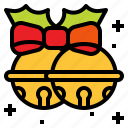 bells, christmas, ribbon, sleigh icon