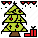 christmas, decoration, gift, tree icon